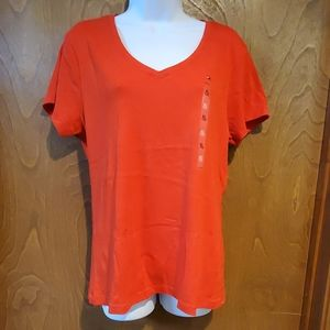 NWT Tommy Hilfiger red v-neck t-shirt
